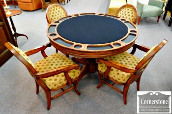 6352-7 Poker Table with 4 Chairs