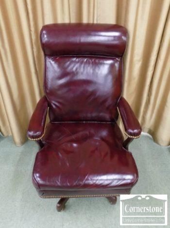 6376-19 - Hancock & Moore Burgundy Desk Chair