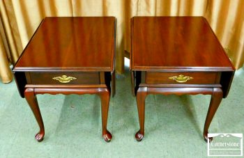 6402-6 - Pair of Cherry Dropleaf End Tables