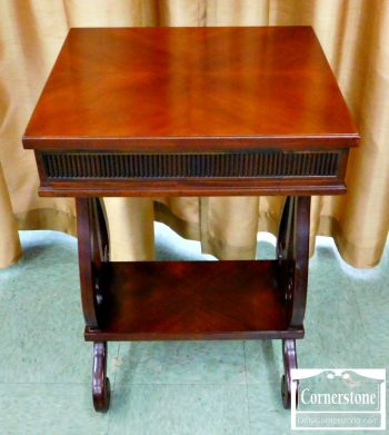 6417-2 - Mahogany Lyre Base Occasional Table