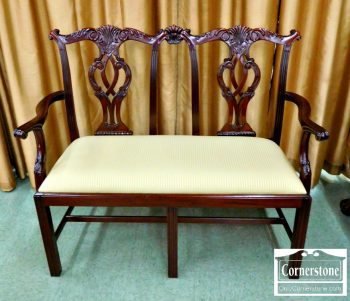 6419-1 - Mahogany Chippendale Chairback Settee