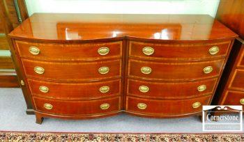 6425-12 - Johnson Furniture, Grand Rapids Mahogany Inlaid Double Dresser