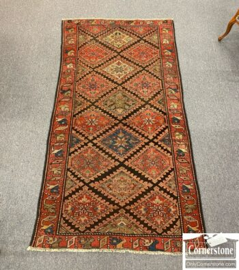 6450-4 - Hand Knotted Wool Tribal Area Rug