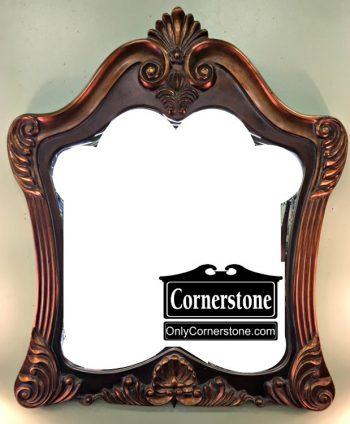 6451-13 Bronze Shell Carved Mirror
