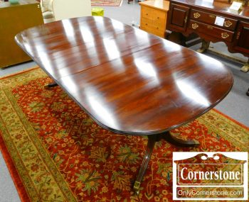 6451-2 - Statton Solid Cherry Pedestal Table with 2 Leaves