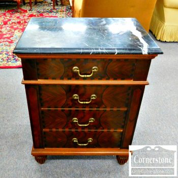 6451-9 - 3-Drawer Marble Top Stand