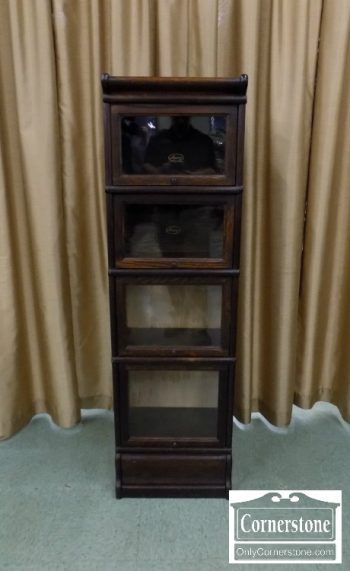 6467-1 - Macey Oak Narrow Barrister Bookcase