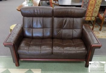 6489-6 - Stressless Ekornes Leather Reclining Loveseat