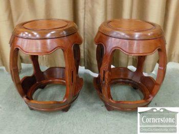 6501-4 - Pair of Teak Asian Garden Seats