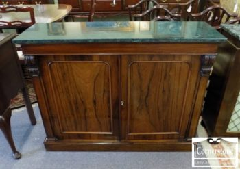 6512-38 - Rosewood Antique Green Marble Top Console