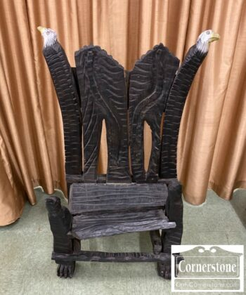 6532-8 - Gary F. White Folk Art Carved Chair