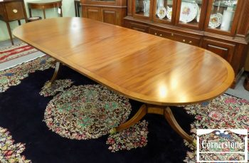 6534-1 - Beacon Hill Mahogany Pedestal Table with 2 Leaves