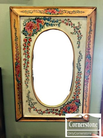 6551-12 Flower painted Mirror