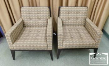 6568-1 - Pair of David Edwards Contemporary Occasional Chairs