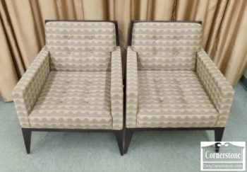 6568-2 - Pair of David Edwards Contemporary Occasional Chairs