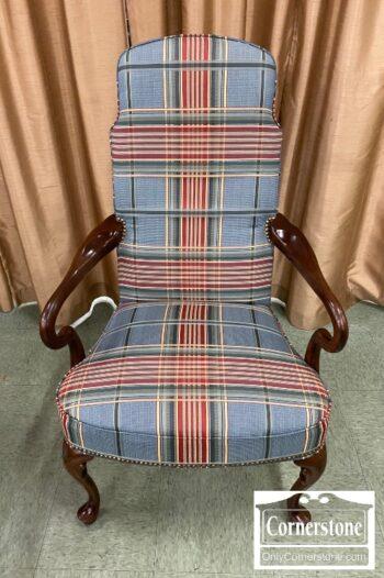 6575-10 - Plaid Occasional QA Arm Chair