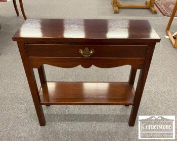 6575-13 - Small Mah Wall Table w Drawer