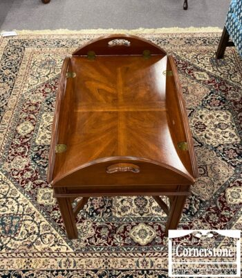 6575-14 - Small Mah Chipp Butler Tray Table