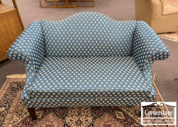 6575-15 - Blue Camelback Loveseat