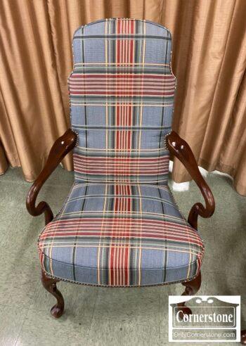 6575-9 - Plaid Occasional QA Arm Chair