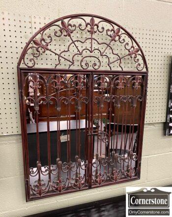 6583-11-Mirror Rounded Top Metal Doors