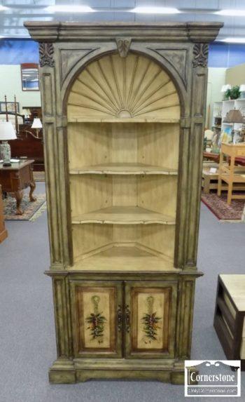 6588-1 - Paint-Decorated Corner Cabinet