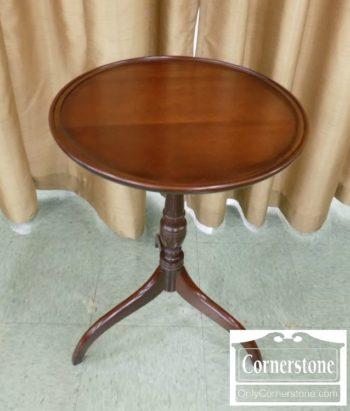 6594-1 - Solid Mahogany Hepplewhite Spider Leg Dish Top Stand