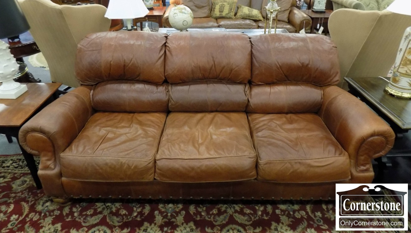 Broyhill Brown Leather Sofa | Baltimore, Maryland Furniture Store U2013  Cornerstone