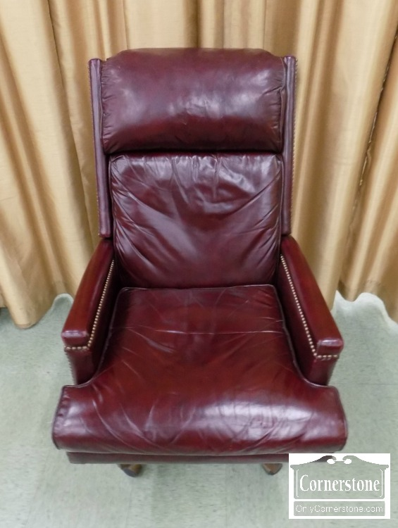 Hickory Chair Red Leather Executive Desk Chair   Baltimore, Maryland  Furniture Store U2013 Cornerstone