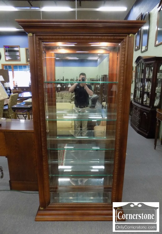 curio sliding plk two door way pulaski edwardian furniture cabinet