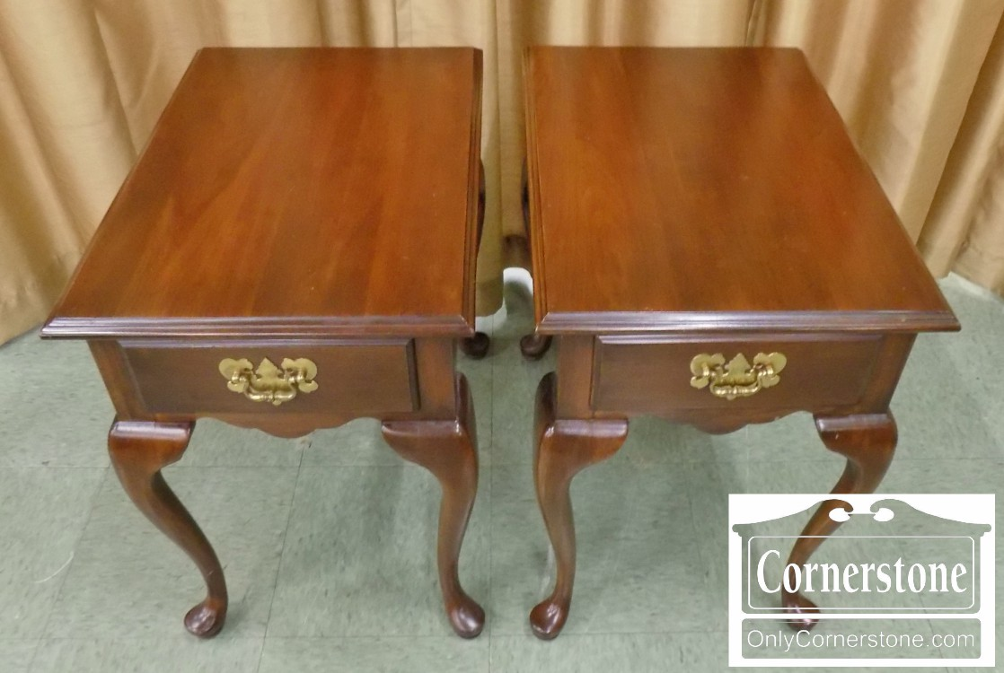 Pair Of Harden Solid Cherry Queen Anne End Tables | Baltimore, Maryland  Furniture Store U2013 Cornerstone