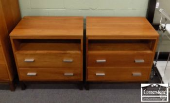 6670-410 - Pair of Stickley Solid Cherry Nightstands