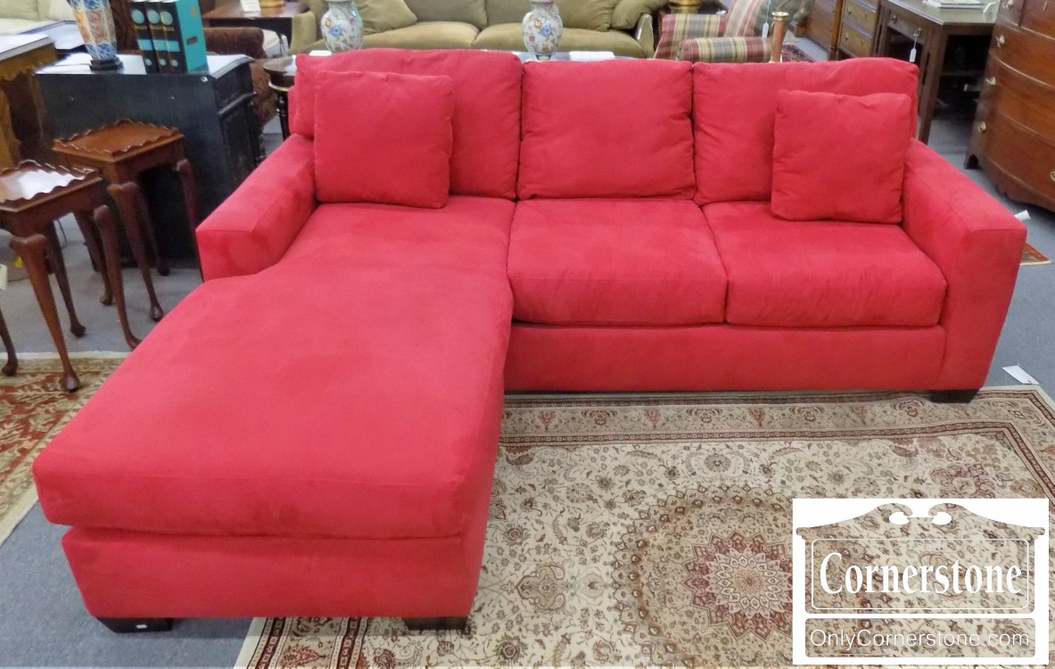 Max Home Red Sofa With Chaise   Sold