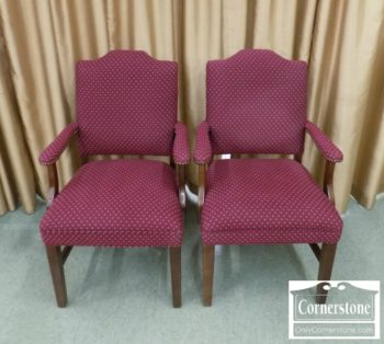 6670-602 - Pair of Upholstered Arm Chairs