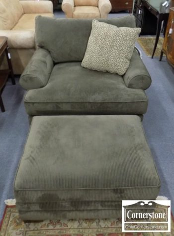 6670-607 - King Hickory Upholstered Chair and Ottoman