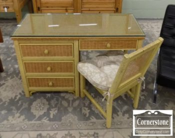 6670-734 - Henry Link Wicker Desk with Chair