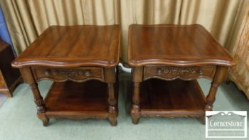 6670-763 - Pair of Broyhill Cherry End Tables