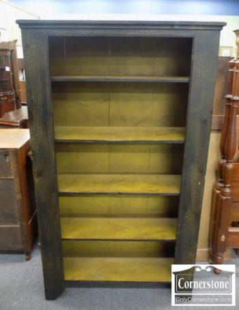 6670-782 - Black Distressed Bookcase