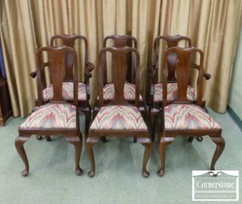 6670-808 - Set of 6 HH Sol Mah QA Dining Chairs