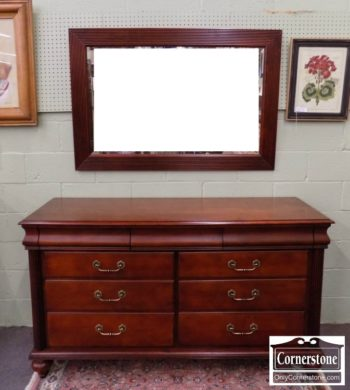 6670-832 - Ethan Allen Sol Cherry Dresser with Mirror