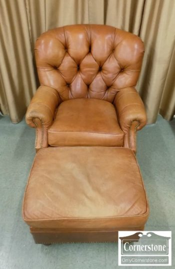 6670-899 - Vanguard Leather Chair with Ottoman