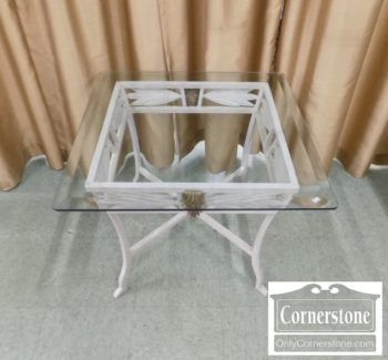 6670-907 - Glass Top End Table