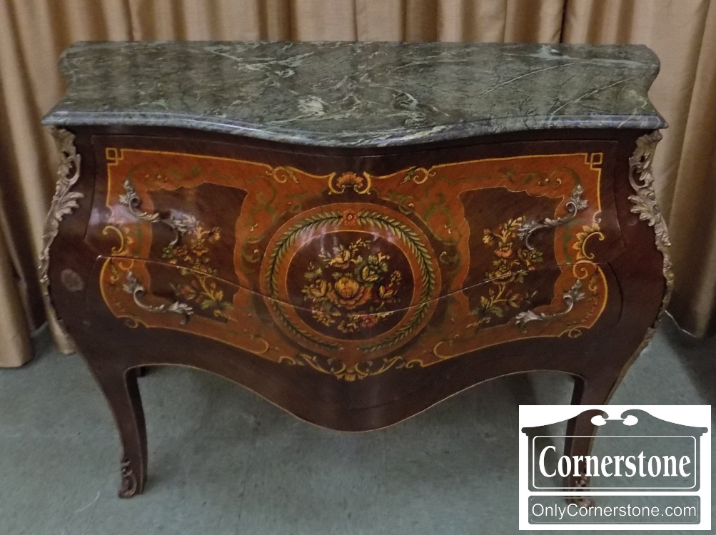 French Style Marble Top E Chest