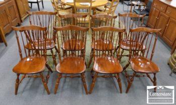 6670-986 - Set of 8 Nichols & Stone Windsor Chairs