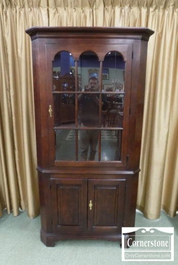 6670-991 - Statton Solid Cherry Corner Cabinet