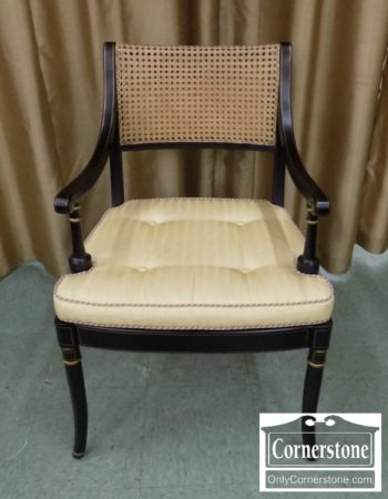 6819-4 - Regency Style Caned Back Arm Chair