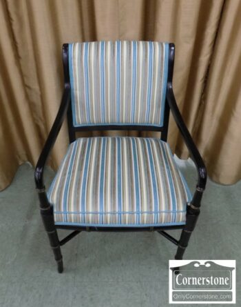 6832-4 - Black Bamboo Style Arm Chair