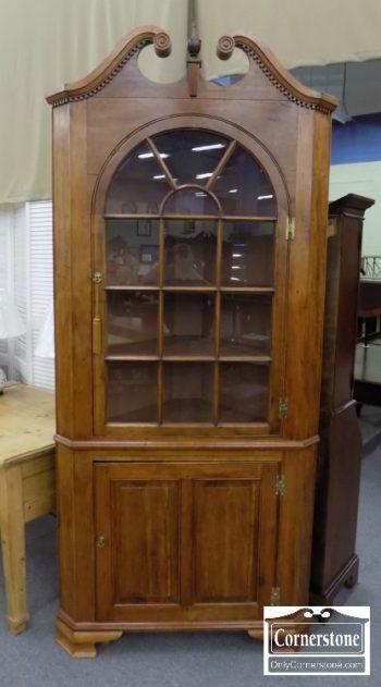 6843-3 - Antique Corner Cabinet
