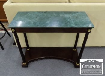 6853-11 - Bombay Co Green Marble Top Console