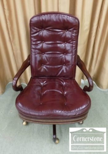 6863-10 - Hancock & Moore Leather Desk Chair